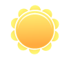 Dry and sunny throughout the day with hardly any clouds.