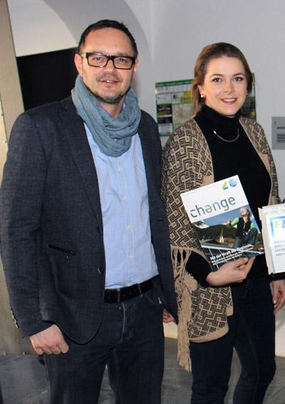 DI Christian Werginz (Kelag Energieberater) und Sabine Kinz, Bakk. (Klima- und Energie-Modellregion)