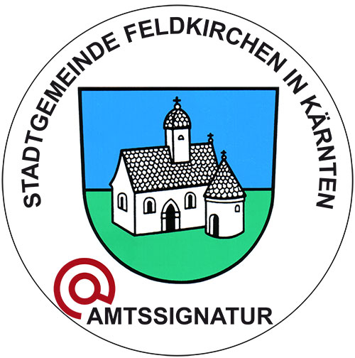 Bildmarke Amtssignatur Stadtgemeinde Feldkirchen in Kärnten