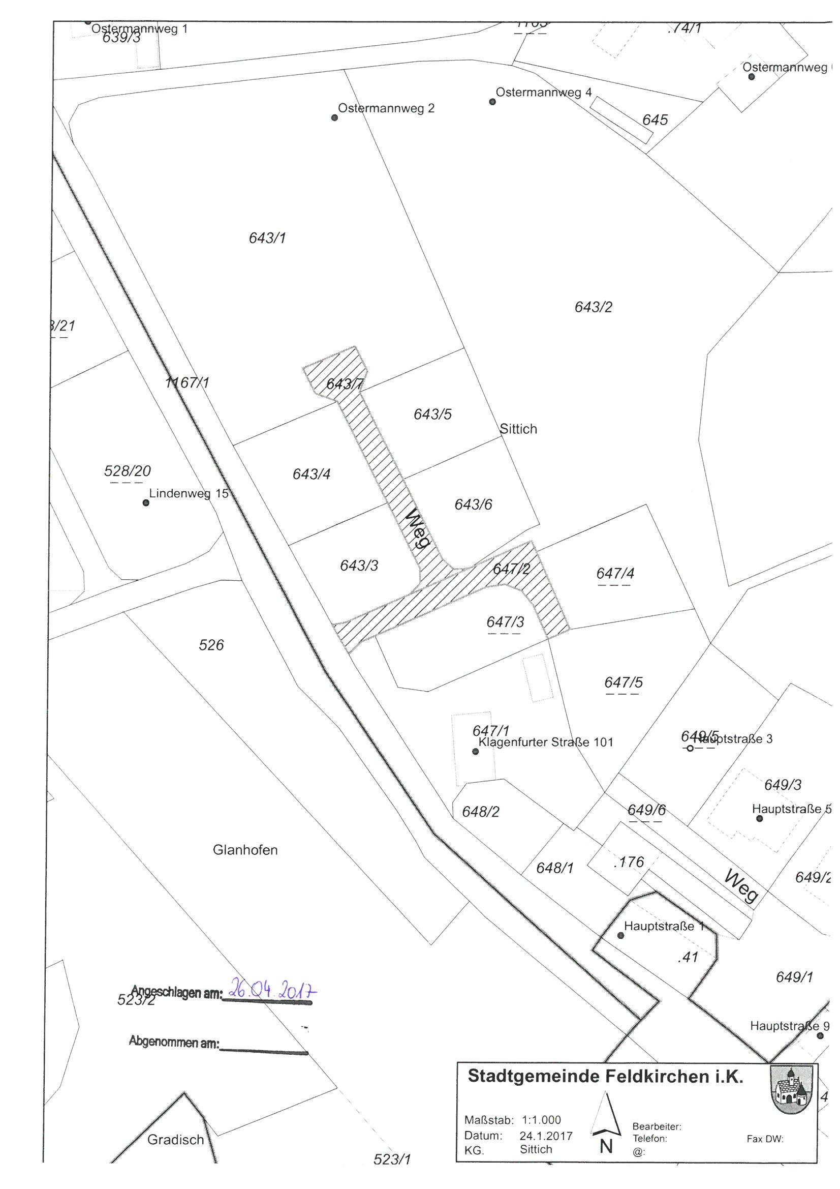 """Lageplan zur Straßenbezeichnung """"Marksteiner Weg"""""""