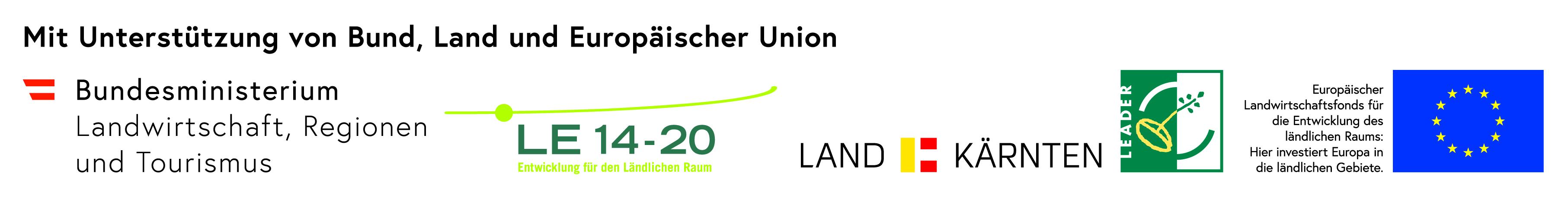 Logo-Leiste EU-LEADER-Projekt